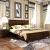 华日ベド纯木ベトド田园ダンベル大ベトド寝室家具排骨格1.5メートルベド+ベド头棚*2+二门箪笥