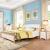 QUANUベッド1.8 mダンベル小戸型寝室セット家具セット12303ベド+ベトヘッド棚*2 1800*2000