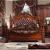 ラフィ慕尚アメリカンベッド高級洋風純木本革ベッド2 m 2.2 m大ベドダンベル復古深いベド2.4 m寝室延長大2.2*2.4 m内径