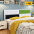 ベドヘッドプレートシンプロ経済型寝室ダンベル経済型寝室ダンベルヘッド漆白1.5 m 1.8 m 2ベドヘッドを背板二段板に厚くしたベドヘッド商品で1.5 m展示しています。