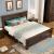 第一号ハウジング(YES-ONE HOTIN)アメカン純木全屋家具3室1ホール16点セット寝室+リビング+レストラン(全屋16点セット)胡桃色