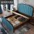 uoovoベッド純木ベケットの足付き沢1.5メートル1.8メートルのダブブラムダンプ寝室セット高級灰アリカーン家具ベト1500