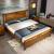 南巣中华风纯木ベケット1.8 mダンプ寝室家具1.5 mシングベド木ベベル+ベトパッド+ベトパッド+ベド头棚x 2 1500 mm*2000 mmフレーム构造