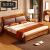 ZUOMU純木ベド1 8 m純木家具クルミの木ベケットA 366標準フレームベド1.8*2(M)