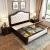 疆騰ベト洋風純木ベト1.8 m寝室家具引出しダンプの邪魔沢アリカーンダンベルジッド1.5 m収納したベトド黒胡桃色1.8 m普通ベトド