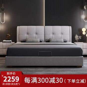 ビカザベドは1.8メートルダブるかもしれません。北欧風免洗科技布収納納ダンベル寝室カスタマイズ色/サイズは先に顧客服を相談してから1500*2000標準ベドを注文します。