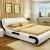 中派ベド寝室ダンベル本革ベッド1.8*2.0標準ベド+ベドパッド