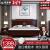 福喜泰新中国式純木ベトウッド収納ベト1.8 m 1.5ダンベル中国風寝室プチ邪魔沢家具オークシングルベト1.5 m*2.0 mフレーム構造