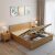 淘邦ベト純木ベトド北欧風シンプ日本式1.5 mダンベル1.8 mダブル寝室室ダンベルジッド収納納引き出し寝室ベド+ベトパッド(色備考)1.2 mフレーム構造